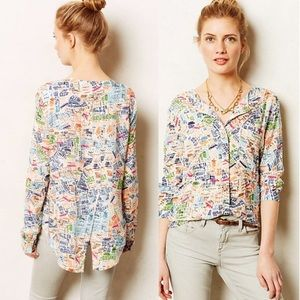Maeve Anthropologie City Streets Blouse